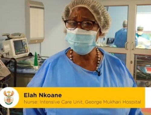 #FromtheFrontlines Intensive Care nurse at George Mukhari Hospital, Elah Nkoane