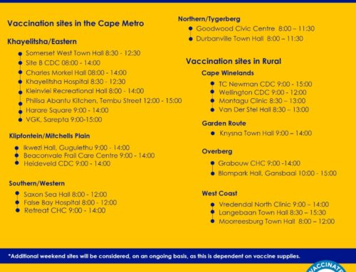 Western Cape Active Vaccination Sites